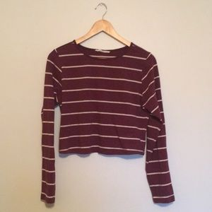 Bluenotes long-sleeve red/white striped shirt